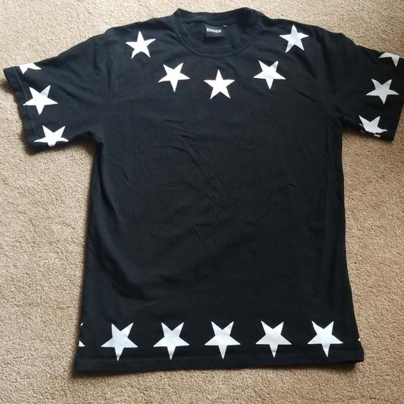 27d499643c7fd3 Rhude Shirts | Black White Star Print Shirt New | Poshmark